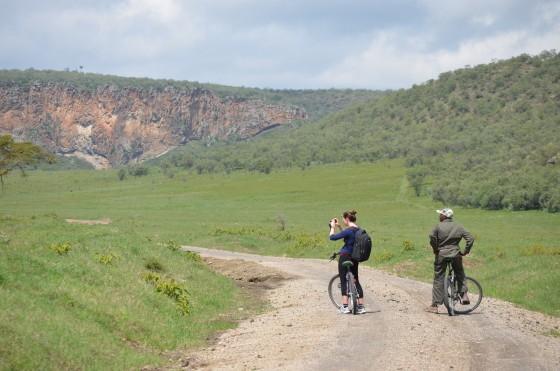 Fizemos o trajeto todo de bike: lindo e cansativo