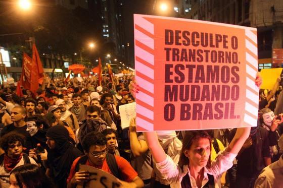 Protesto em São Paulo (Foto: Marcos de Paula/Estadão)