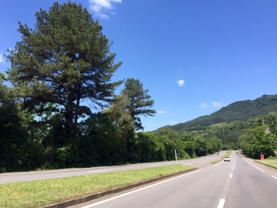 Estrada maravilhosa do Rio Grande do Sul